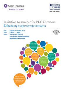 Enhancing corporate governance seminar