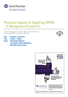 Practical Aspects of Applying MFRS Seminar