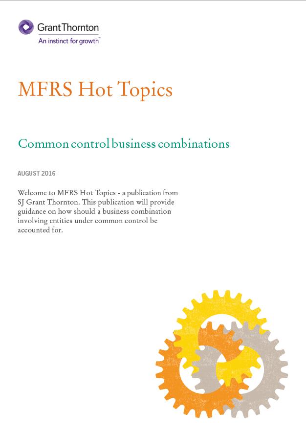 Common control business combinations | Grant Thornton